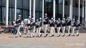 Jong Excelsior tijdens de jubileumtaptoe in Schiedam