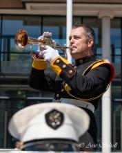 Rijnmondband tijdens de jubileumtaptoe in Schiedam