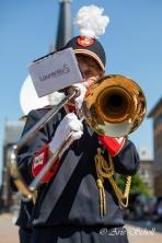 Jong Laurentius tijdens de jubileumtaptoe in Schiedam